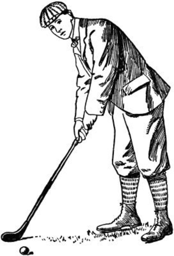 1800s golf golfer sports printable art clipart png download digital image original graphics digital stamp black and white