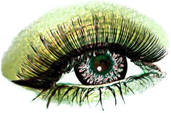 green eyeshadow womans eye makeup art printable clip art png clipart digital download abstract beauty image graphics diy crafts cards