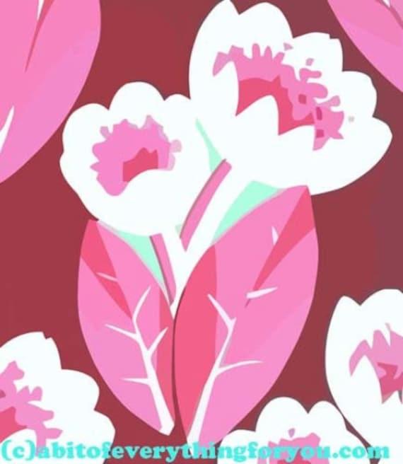 "abstract pink tulip flower printable art poster print digital download image downloadable art 9.5"" x 11"" home living room bedroom decor"