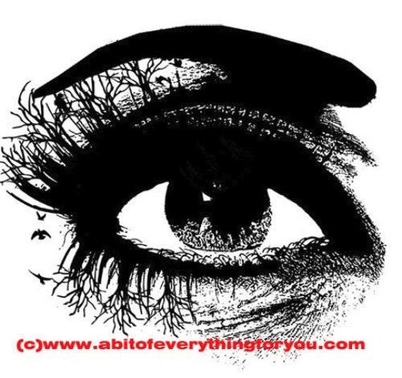eye tree lashes clipart png Digital Download printable art print makeup Image graphics digital stamp for crafts cards t shirts mugs
