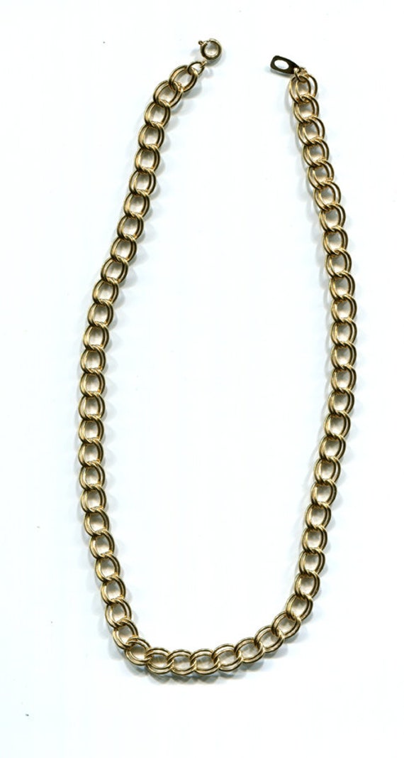gold chain necklace gold chains unisex jewelry 10mm double link curb chains, mens chain necklace, womens necklace chain
