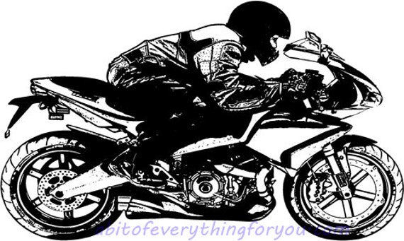motorcycle rider clipart motor bike printable art print png download digital image graphics digital stamp bikers downloadable artwork