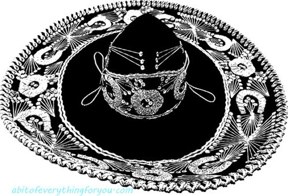 mexican sombrero hat clipart png printable wall art download digital image downloadable graphics digital stamp diy crafts