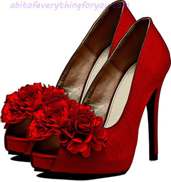 red rose flowers high heel shoes art clipart png download digital image graphics printable downloadable fashion artwork