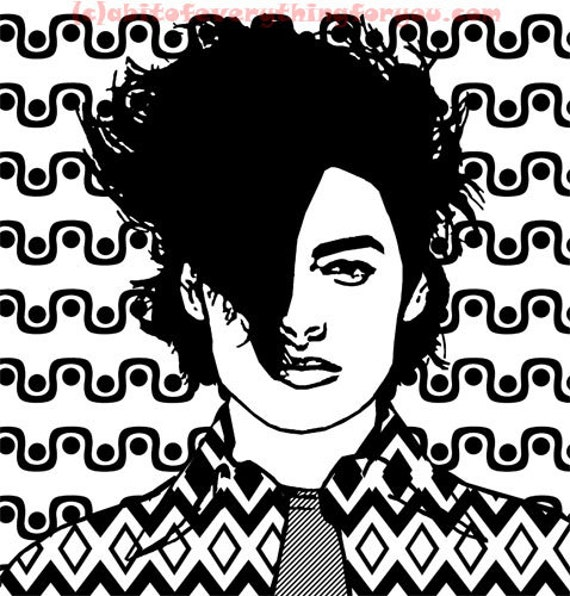 80s new wave guy pop art printable downloadable coloring page abstract digital download art image graphics music fashion art prints