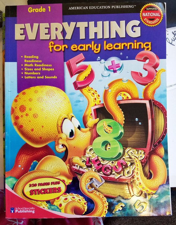 Everything For Early Learning worksheet book grade 1 homeschool reading math educational books