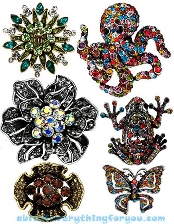 crystal rhinestone jewelry clipart digital download die cuts craft cut outs sheet graphics downloadable fashion images printables