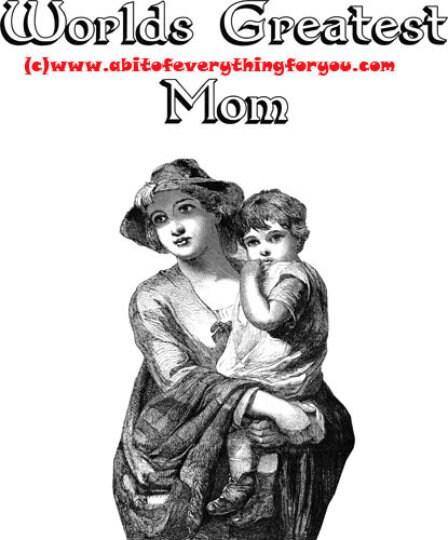 Mom Gift Vintage Poster Digital Download