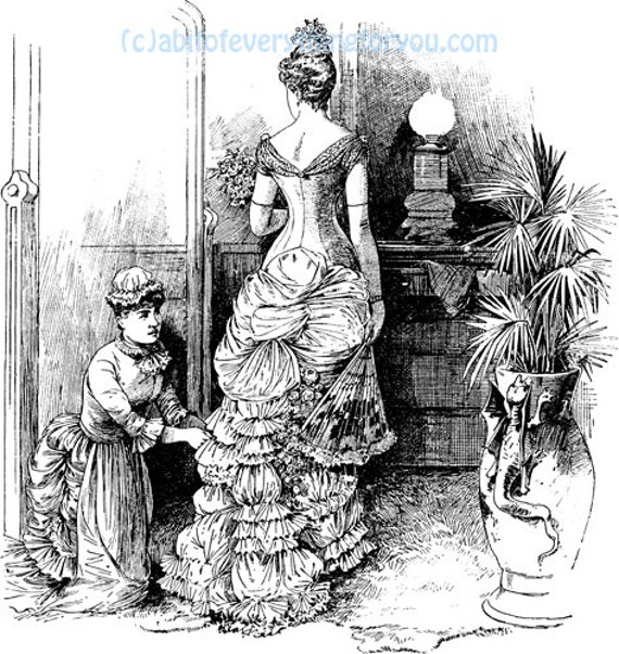 vintage victorian women with maid printable art clipart png digital download image graphics instant downloadable black and white art