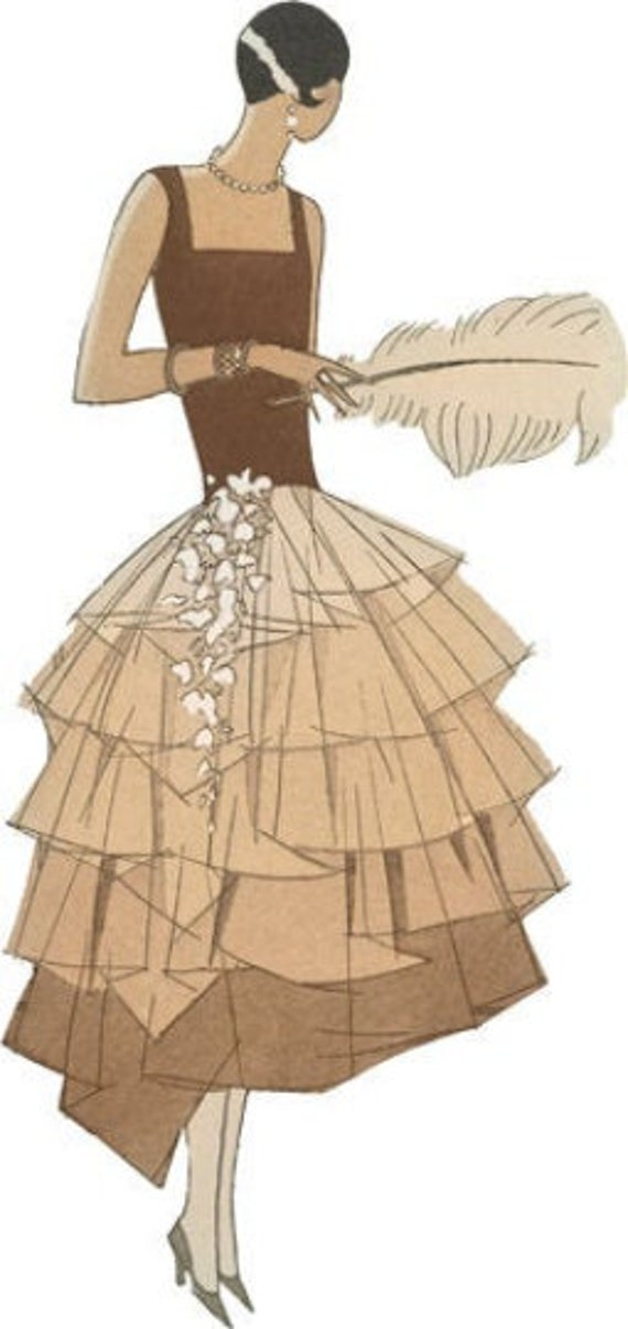 elegant 1920s pinup girl flapper girls printable art png jpg clipart fashion dresses digital download image woman graphics downloadable