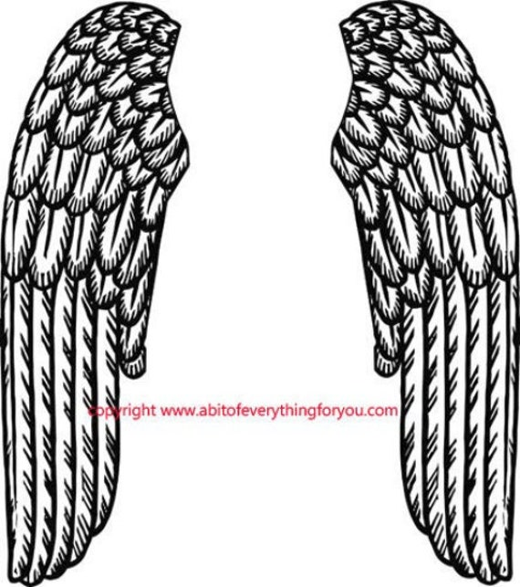printable angel wings clipart art jpg png angel images instant download digital graphics digital stamp paper cut out tattoo art