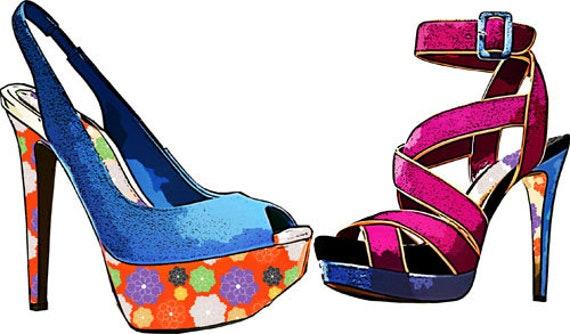 ladies high heel shoes art clipart png download digital image graphics printable fashion artwork home decor living room bedroom salon art