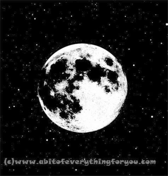 full moon black and white printable art print clipart png jpg instant download digital image graphics astronomy art