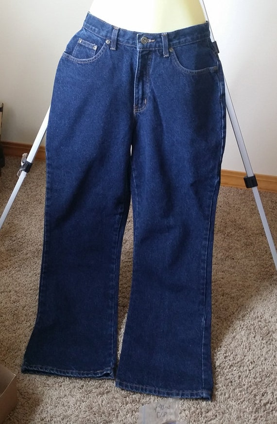 womens blue jeans pants womens pants size 10 Medium denim wide leg 29 x 30 clothing LA blues vintage 90s