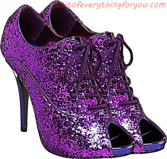 purple glitter high heel shoe clipart png printable fashion art download digital image downloadable graphics