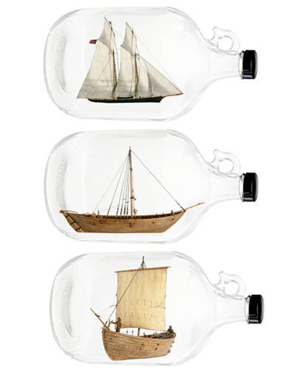 boats sailing ships in wine bottle jugs clipart die cuts craft cut outs digital download graphics downloadable images printables diy