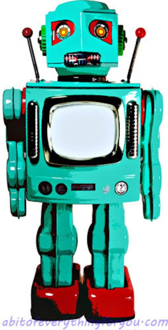 teal blue wind up space man robot toy printable art print clipart png download digital image graphics downloadable artwork