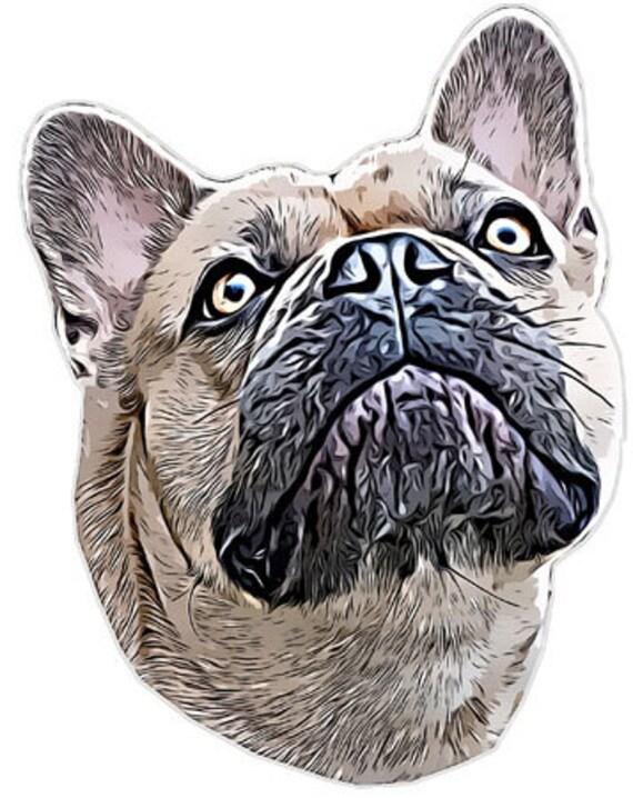 french bulldog dog head abstract art clipart png jpg printable digital download animals pets digital downloadable graphics image