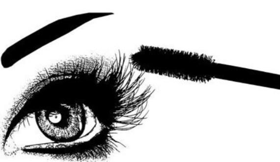 womans eye mascara lashes makeup art clipart png download digital vintage image graphics beauty black and white artwork