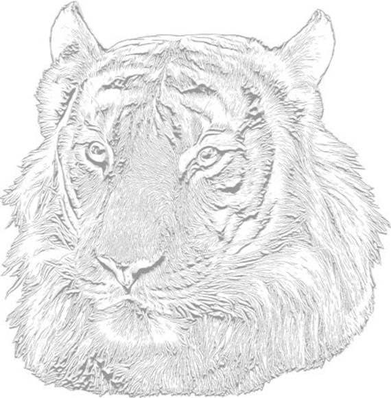 silver jungle tiger head png jpg clipart printable art digital download animals safari clipart downloadable transfer graphics images