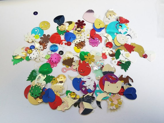 mixed lot of sequins craft embellishments scrapbooking supplies