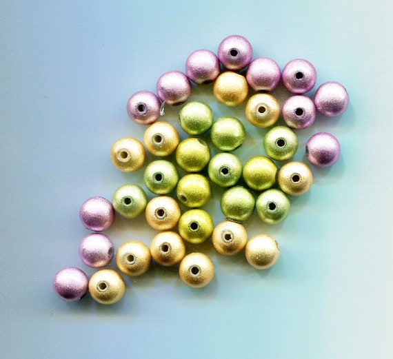 36 miracle pearl acrylic beads 8mm mixed colors BEAD lot jewelry supply