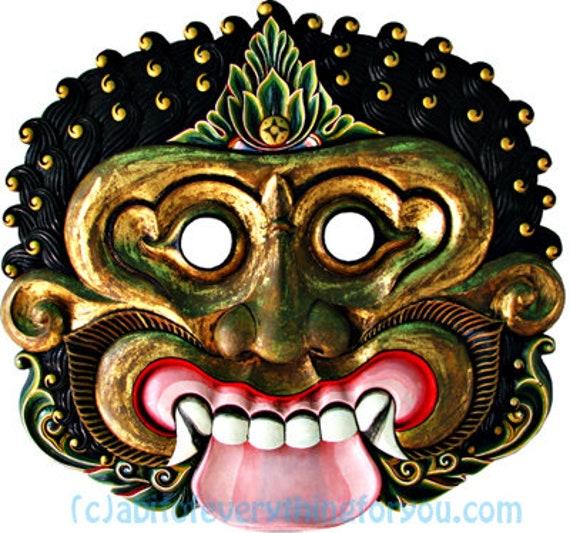 monster tribal mask printable art clipart png jpg instant download images digital downloadable modern image graphics artwork