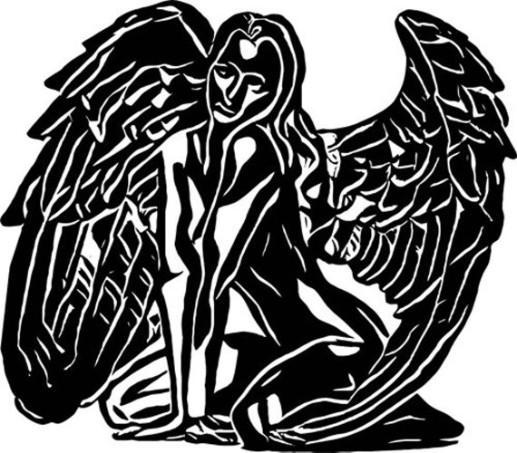 abstract nude angel woman printable art clipart png jpg instant download silhouette digital downloadable image graphics DIY craft print out