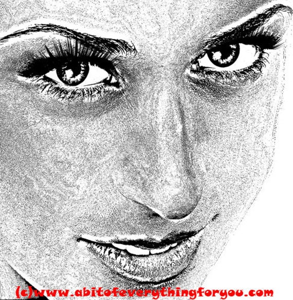 smiling womans face original printable art print makeup beauty png clipart download digital image graphics black white art