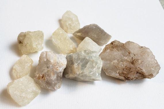 10 Quartz crystal nuggets Rocks stones gemstones Montana 10 oz raw quartz minerals healing feng shui fish tank aquarium decor