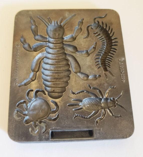 creepy crawler bugs insects mold metal beetles vintage toys mattel 1964