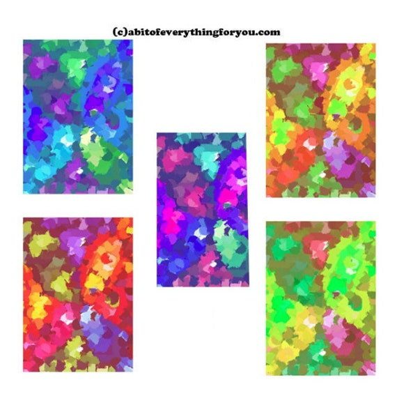 Abstract paint daubs impressionism pattern printable wall art print original art digital backgrounds paintings colorful art home decor