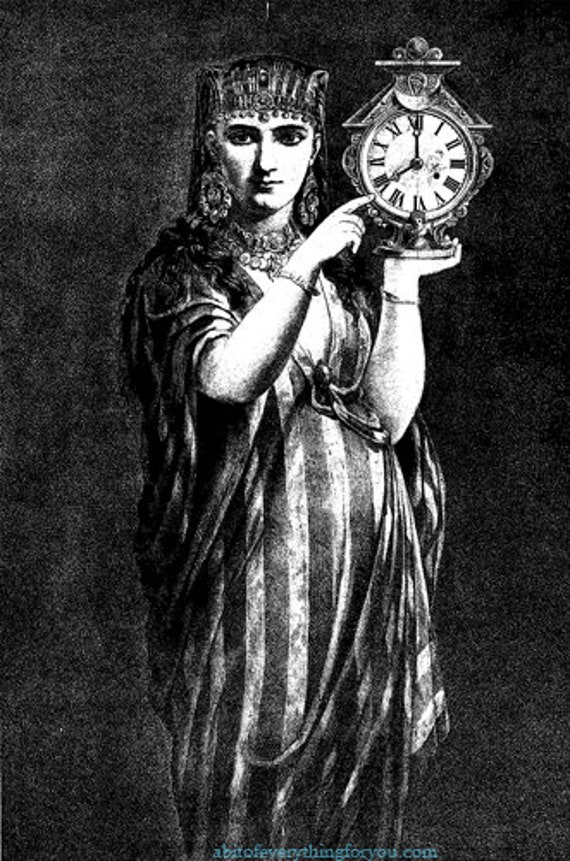 egyptian queen clock printable antique vintage art clipart png jpg download digital image graphics black and white artwork
