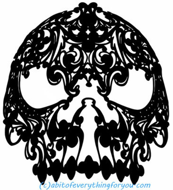 skeleton skull filigree mask silhouette printable art print png clipart transparent digital download image graphics downloadable masquerade