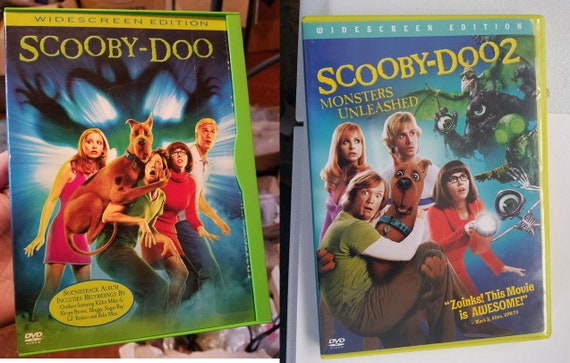 Scooby Doo & Scooby Doo 2 Monsters Unleashed DVD lot Movie Family animated Comedy