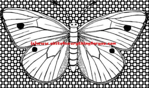 happy butterfly coloring page polka dots printable art coloring pages instant download digital image bug insect graphics coloring poster