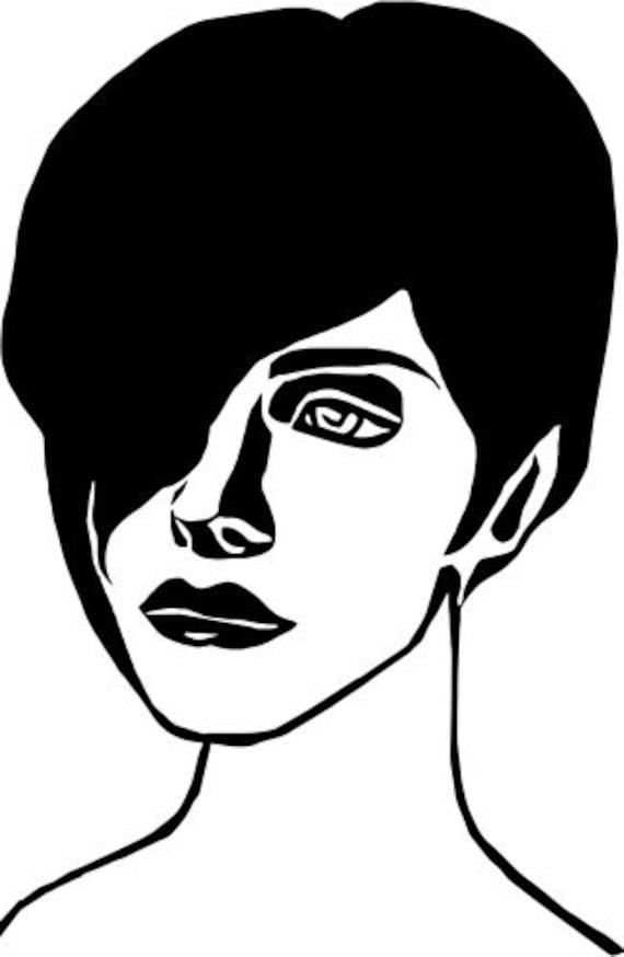 elf girl fantasy printable art clipart png jpg instant download face clip art digital downloadable woman image graphics