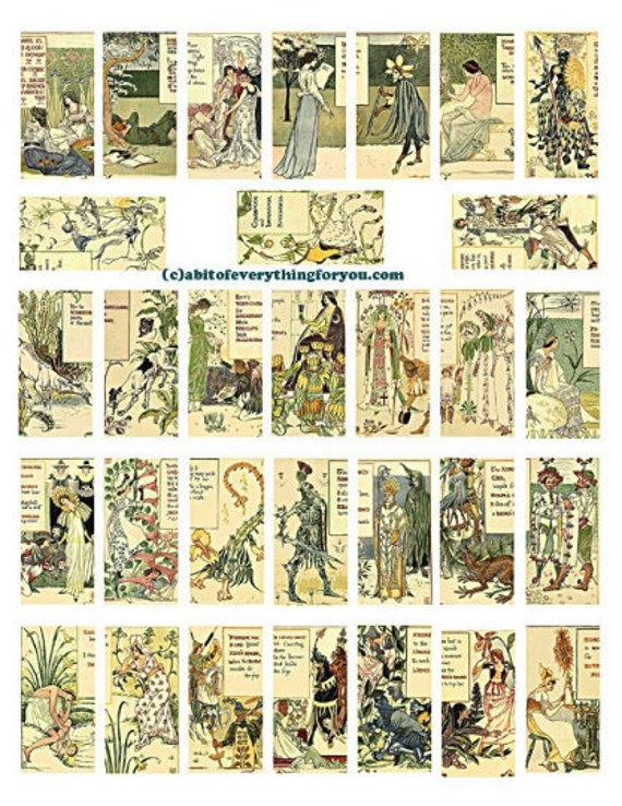 victorian garden fairy fairies art domino collage sheet 1 x 2 inch images clip art digital download domino graphics images printables