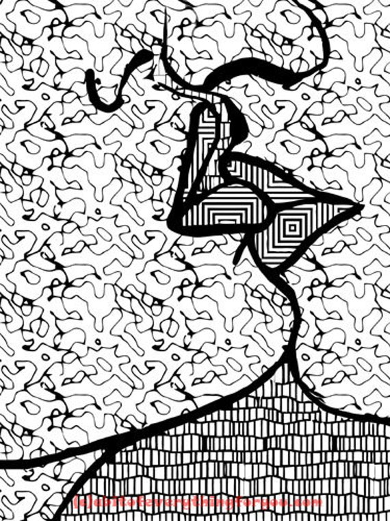 couple lover kissing abstract art coloring page line art printable images digital downloadable graphics downloads