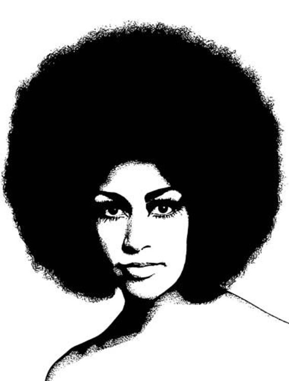 1960s beautiful black african womans face printable wall art intant download clipart png afro hair digital image graphics digital stamp