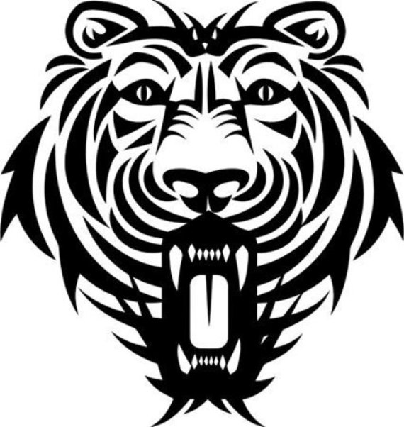 jungle tiger face stencil png svg jpg clipart vector printable art digital download graphics images