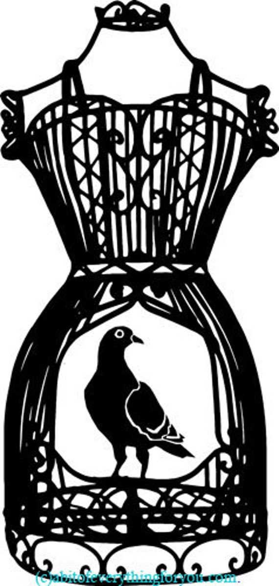 wire mannequin dress forms bird cage printable art print silhouette clipart png download digital image graphics digital stamp