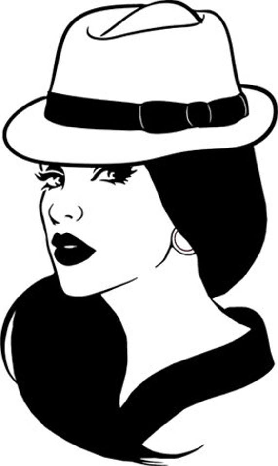 Chola mexican latina womans face png jpg svg vector printable wall art instant download clipart digital image graphics