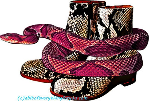 red snake snakeskin boots clipart png printable country western fashion art download digital image downloadable animal reptiles graphics art
