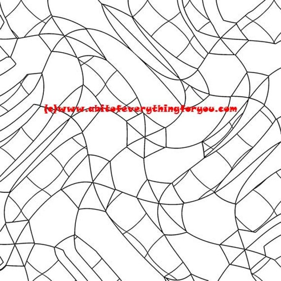 Crazy Geometric shapes abstract coloring page, adult coloring pages, line art ,printable art, coloring pages to print out