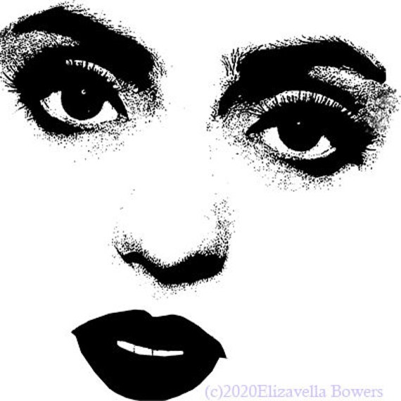 womans big eyes and lips printable makeup art clipart png download digital face beauty image graphics digital stamp diy crafts supplies