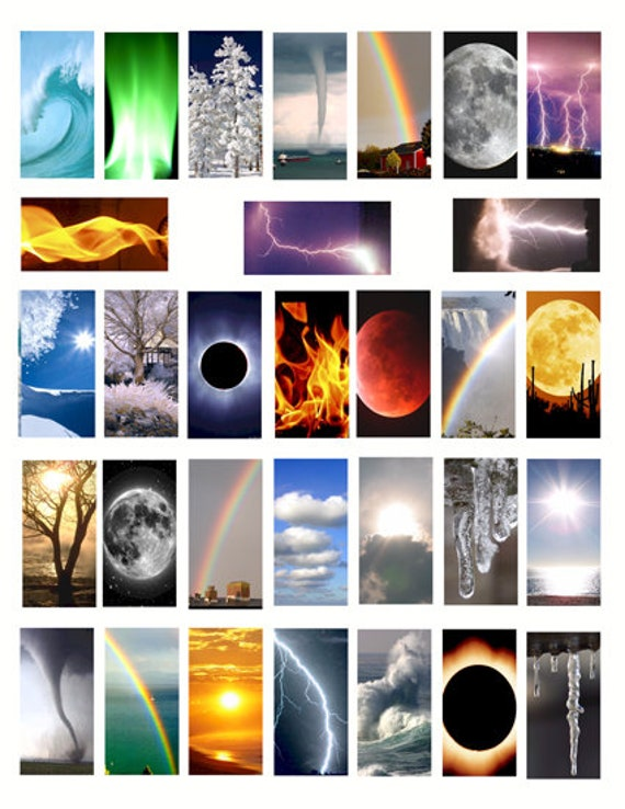 the elements weather storms domino collage sheet 1 x 2 inch clip art digital download graphics images craft pendant pins printables