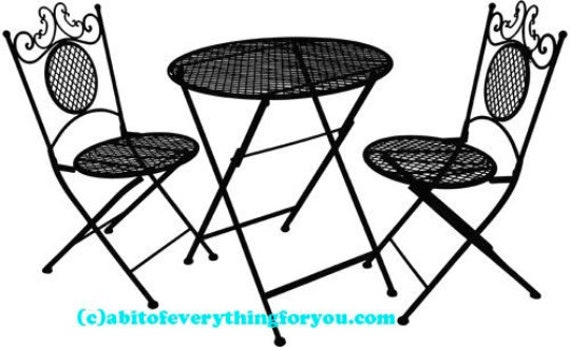 iron bistro patio furniture art printable clipart png download digital image graphics furniture silhouette black and white downloadable art