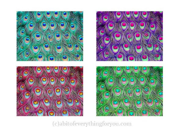 peacock feather pattern printable wall art print digital background downloadable art 4 colors home decor diy crafts