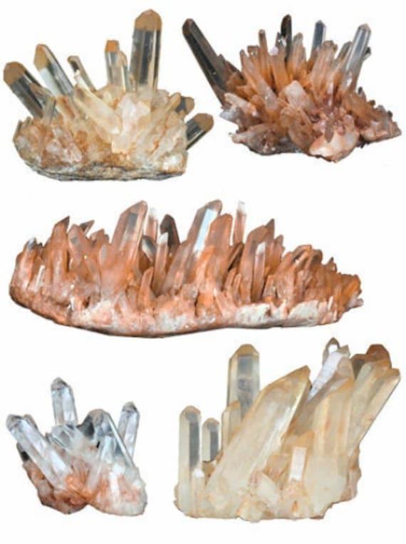 rocks quartz Crystals Gemstones clipart png jpg printable wall art digital instant download collage sheet